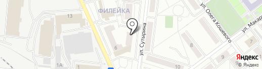 Глазовский на карте Кирова