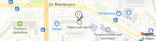 Кокушев А.А. на карте Кирова