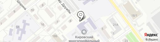 Латунка на карте Кирова