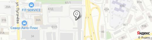 Отекс на карте Кирова