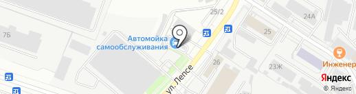 Автомойка самообслуживания на карте Кирова