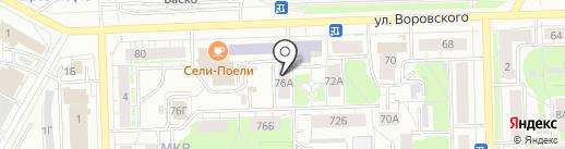 Птицефабрика Зеленецкая на карте Кирова