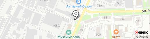 Город на карте Кирова