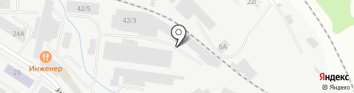 Окноград на карте Кирова