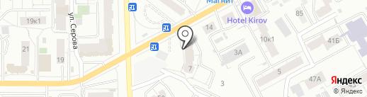 Система Координат на карте Кирова