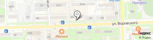 Магазин сумок и кожгалантереи на карте Кирова