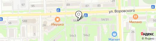 Волаур на карте Кирова