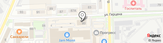Вятка на карте Кирова