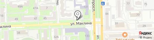 Сосновый бор на карте Кирова