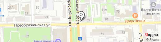 Прядки в порядке на карте Кирова