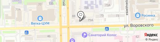 Блеск на карте Кирова