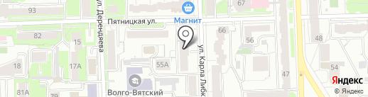 БурЖуй на карте Кирова