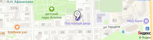 У Никитских ворот на карте Кирова