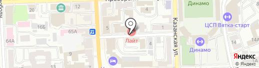Сити на карте Кирова