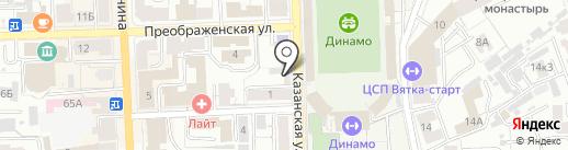 Круг мучного волшебства на карте Кирова
