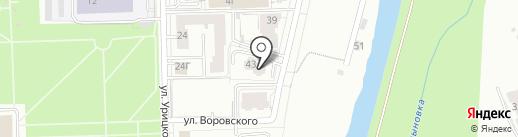 Землемер на карте Кирова