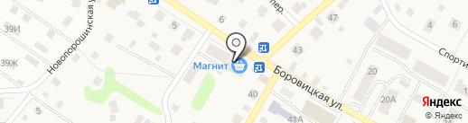 Магазин автотоваров и рыболовных принадлежностей на карте Порошино