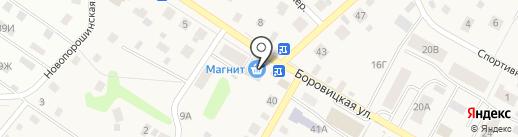 Сеть мини-маркетов на карте Порошино
