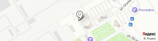 Почтовое отделение №207 на карте Новокуйбышевска