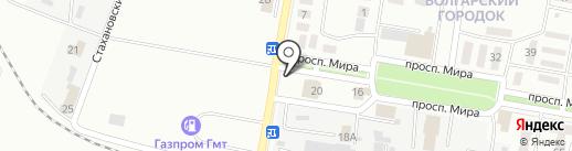 Киоск по продаже хлебобулочных изделий на карте Новокуйбышевска