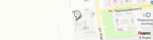 Фабрика Колибри на карте Новокуйбышевска
