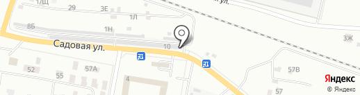 Шиномонтажная мастерская на Садовой на карте Новокуйбышевска