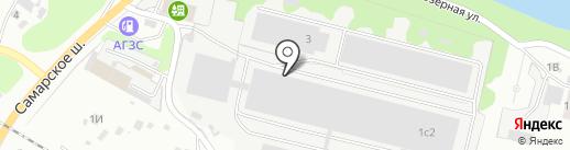 Сибаль-Авто на карте Новокуйбышевска