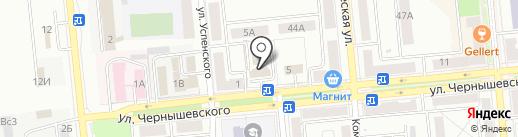 Управление пенсионного фонда РФ в г. Новокуйбышевске на карте Новокуйбышевска