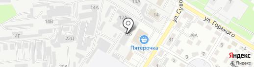 Электро на карте Новокуйбышевска