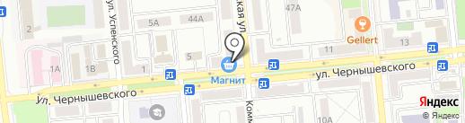 Вивея на карте Новокуйбышевска