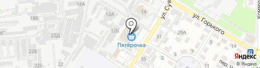 Актис на карте Новокуйбышевска