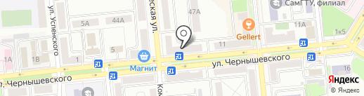 Банкомат, Поволжский банк Сбербанка России на карте Новокуйбышевска