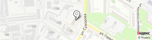 Автомойка на карте Новокуйбышевска