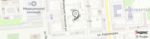 Отдел здравоохранения на карте Новокуйбышевска