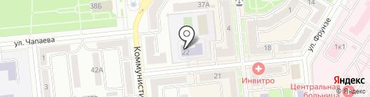 Средняя общеобразовательная школа №3 на карте Новокуйбышевска