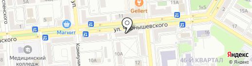 Магазин мебельной фурнитуры на карте Новокуйбышевска