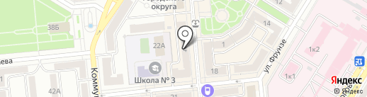 Юничел на карте Новокуйбышевска