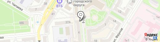 Киоск по продаже мороженого на карте Новокуйбышевска