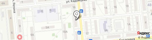 Банкомат, АКБ МОСОБЛБАНК на карте Новокуйбышевска