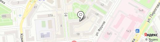 Золотая рыбка на карте Новокуйбышевска