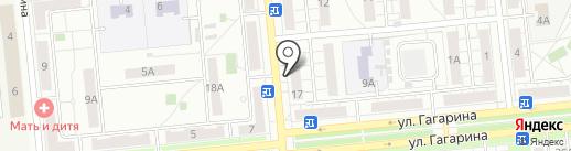 Грош на карте Новокуйбышевска