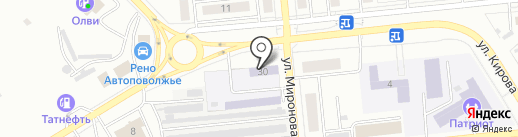 Новокуйбышевская автомобильная школа на карте Новокуйбышевска