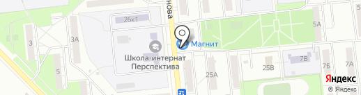 Киоск по продаже кондитерских изделий на карте Новокуйбышевска