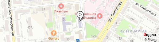 Центральная библиотека им. А.С. Пушкина г. Новокуйбышевска на карте Новокуйбышевска
