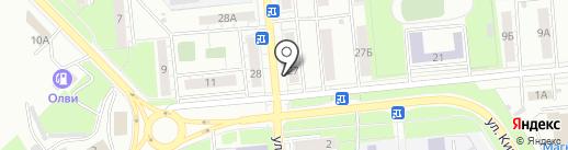 Родник на карте Новокуйбышевска