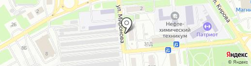 Почтовое отделение №202 на карте Новокуйбышевска