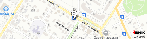 Дружба на карте Новокуйбышевска
