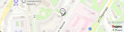 Новофарм на карте Новокуйбышевска