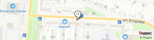 Родниковый источник на карте Новокуйбышевска