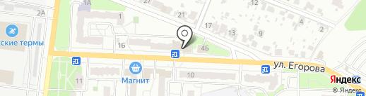 Почтовое отделение №205 на карте Новокуйбышевска